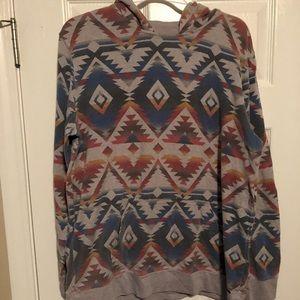 Vintage 'On the Byas' Pattern Pullover Hoodie